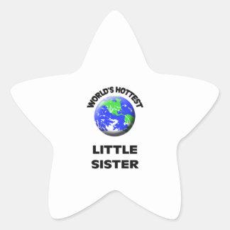 World's Hottest Little Sister Star Sticker