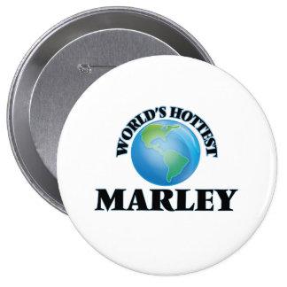 World's Hottest Marley Pinback Button