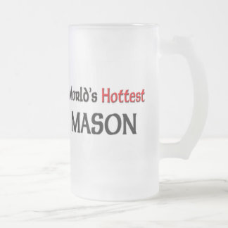 Worlds Hottest Mason Frosted Glass Beer Mug