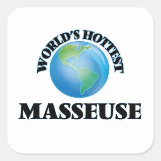 World's Hottest Masseuse Square Sticker