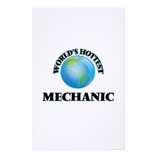 World's Hottest Mechanic Custom Stationery