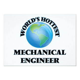 World's Hottest Mechanical Engineer Personalized Invite