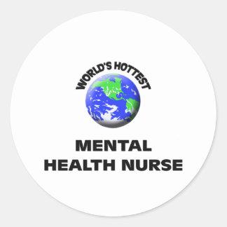 World's Hottest Mental Health Nurse Stickers