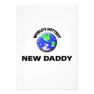 World's Hottest New Daddy Personalized Invite