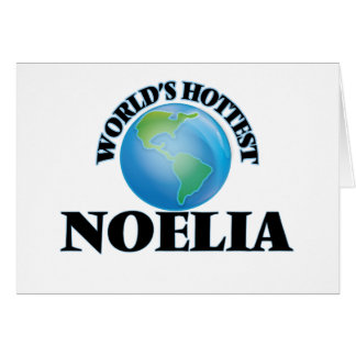 World's Hottest Noelia Note Card