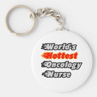 World's Hottest Oncology Nurse Basic Round Button Key Ring