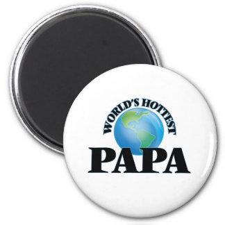 World's Hottest Papa 6 Cm Round Magnet