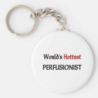 Worlds Hottest Perfusionist Basic Round Button Key Ring
