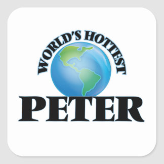 World's Hottest Peter Square Stickers