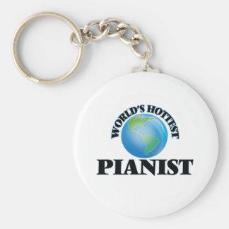 World's Hottest Pianist Keychain