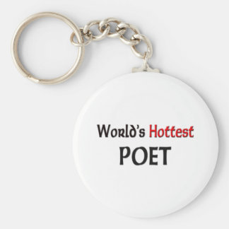 Worlds Hottest Poet Basic Round Button Key Ring