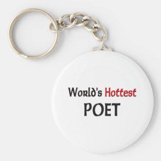 Worlds Hottest Poet Key Ring