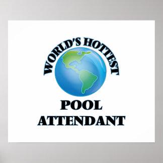 World's Hottest Pool Attendant Print