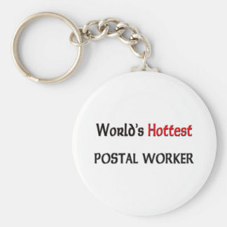 Worlds Hottest Postal Worker Key Ring