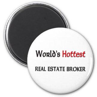 Worlds Hottest Real Estate Broker 6 Cm Round Magnet