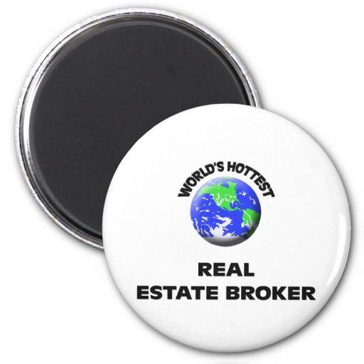 World's Hottest Real Estate Broker Refrigerator Magnet