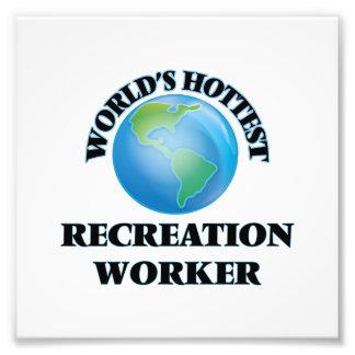World's Hottest Recreation Worker Photographic Print