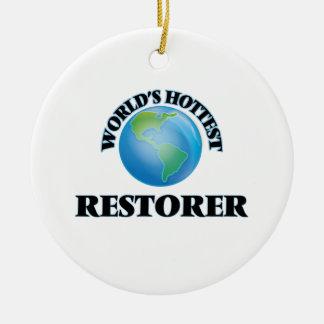 World's Hottest Restorer Christmas Ornament