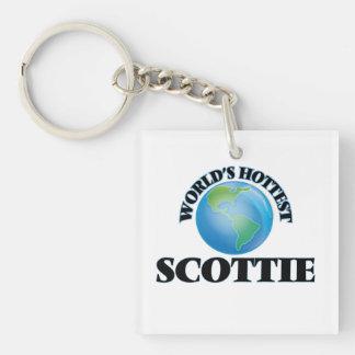 World's Hottest Scottie Square Acrylic Keychains