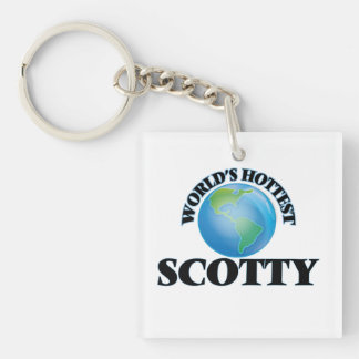 World's Hottest Scotty Square Acrylic Key Chains