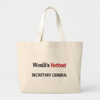 Worlds Hottest Secretary General Canvas Bags