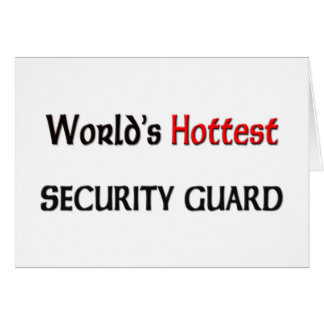 Worlds Hottest Security Guard Cards