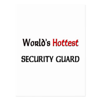 Worlds Hottest Security Guard Postcard