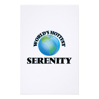 World's Hottest Serenity Customized Stationery