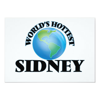 "World's Hottest Sidney 5"" X 7"" Invitation Card"