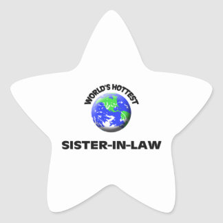 World's Hottest Sister-In-Law Star Sticker