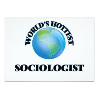 "World's Hottest Sociologist 5"" X 7"" Invitation Card"