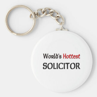 Worlds Hottest Solicitor Basic Round Button Key Ring