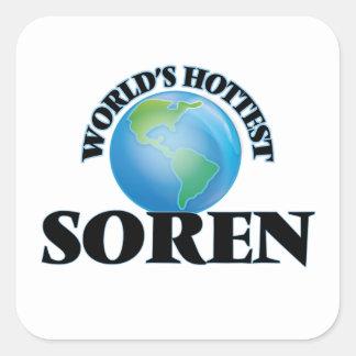 World's Hottest Soren Square Stickers