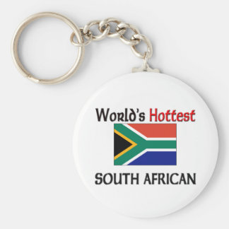 World's Hottest South African Basic Round Button Key Ring