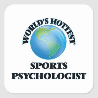 World's Hottest Sports Psychologist Square Stickers
