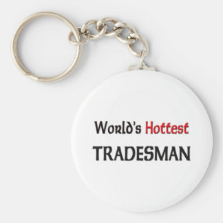 World's Hottest Tradesman Key Ring