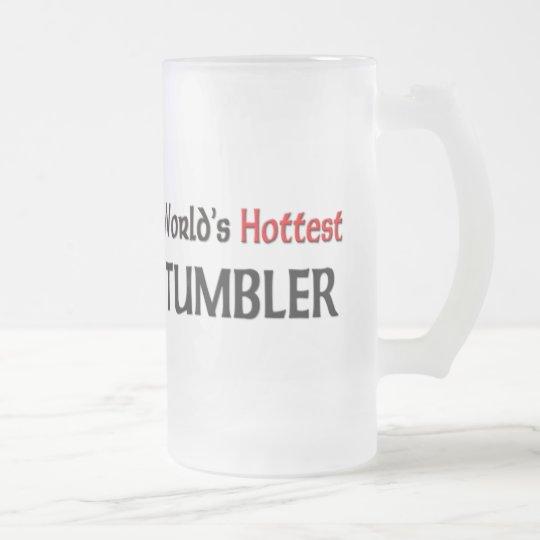 World's Hottest Tumbler Frosted Glass Beer Mug