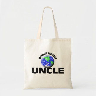 World's Hottest Uncle Budget Tote Bag