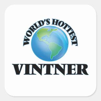 World's Hottest Vintner Square Sticker