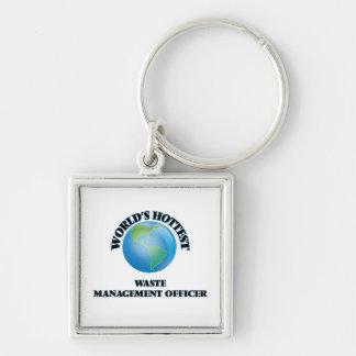 World's Hottest Waste Management Officer Keychain