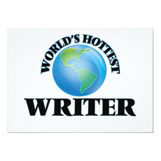 World's Hottest Writer Personalized Announcement