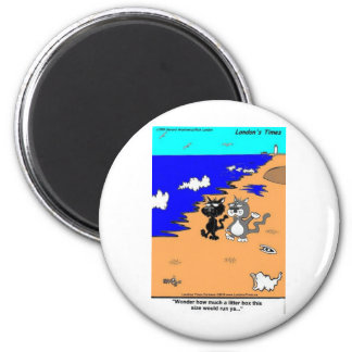 World's Largest Litter Box Funny Gifts & Tees 6 Cm Round Magnet