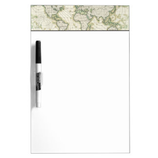 World's magnetic declination dry erase board