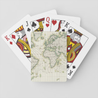 World's magnetic declination playing cards