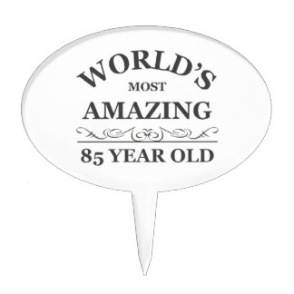 World's most amazing 85 year old cake toppers