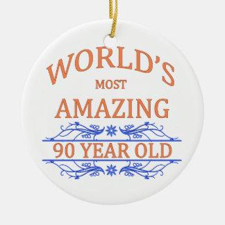 World's Most Amazing 90 Year Old Round Ceramic Decoration