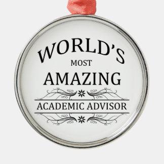 World's Most Amazing Academic Advisor Christmas Ornament