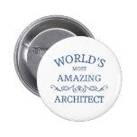 World's most amazing architect button