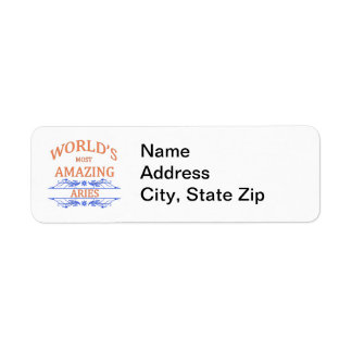 World's Most Amazing Aries Return Address Label