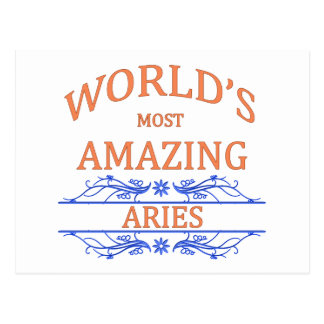 World's Most Amazing Aries Postcard